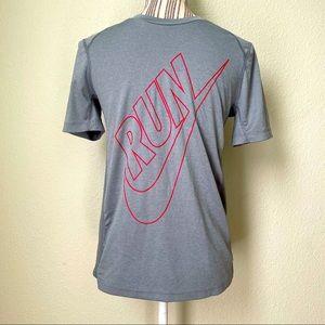 Nike Dri-Fit Run Mesh Tee Grey Boys' XL